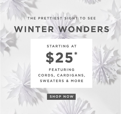 Coupon for: LOFT, Cold weather styles for special prices