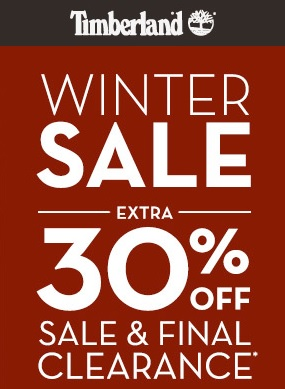 Coupon for: Timberland, Winter Sale