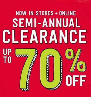 Coupon for: Crazy 8, Winter Wow, Semi-Annual SALE