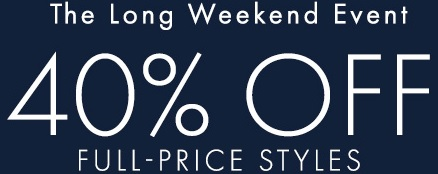 Coupon for: Ann Taylor, The long weekend Event