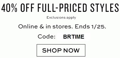 Coupon for: Banana Republic, Receive a special discount
