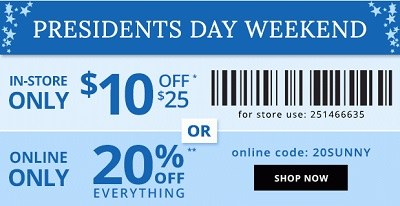 Coupon for: Payless ShoeSource, President's weekend SALE