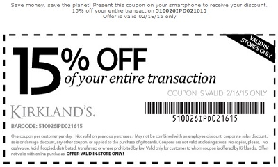 Coupon for: Kirkland's, Last day to save