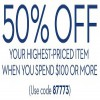 Thumbnail for coupon for: Chico's, 50% off highest-priced item
