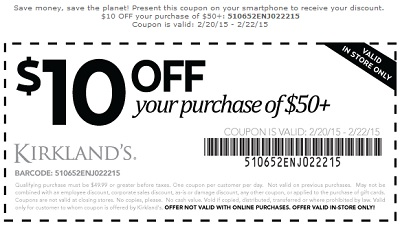 Coupon for: Kirkland's, Printable Sale Coupon