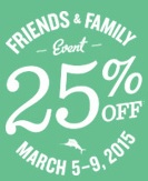 Coupon for: Tommy Bahama, Friends & Family Event