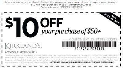 Coupon for: Kirkland's, In-store savings