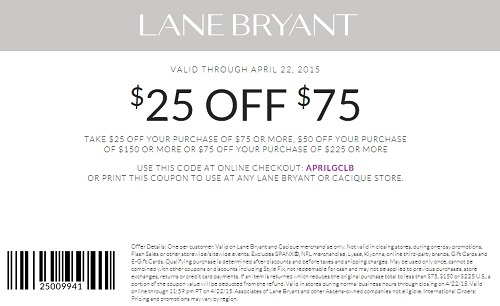 Coupon for: Lane Bryant, Save with sale coupon
