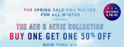 Coupon for: American Eagle Outfitters, Spring sale is here