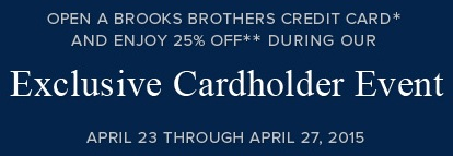 Coupon for: Brooks Brothers, Cardholder Sale Event