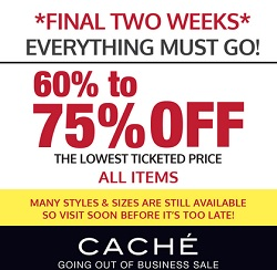Coupon for: Caché, Final Two Weeks of savings