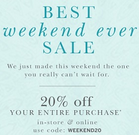Coupon for: dressbarn, Best weekend ever Sale