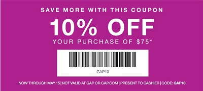 Coupon for: Gap Factory, Save more with this coupon