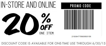 Coupon for: Tilly's, In-store sale coupon