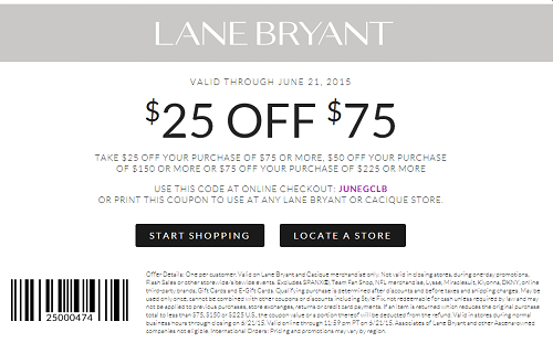 Coupon for: Lane Bryant, Shopping with Sale coupon