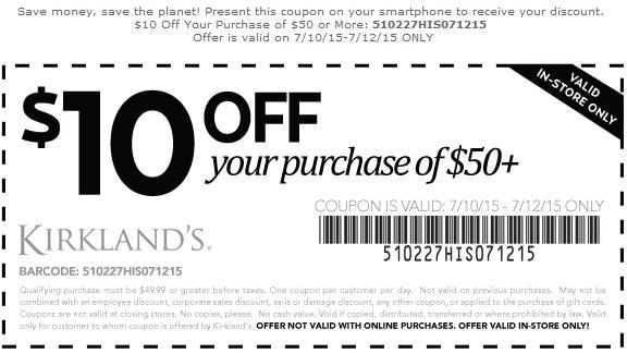 Coupon for: Save big with Kirkland's Printable Coupons
