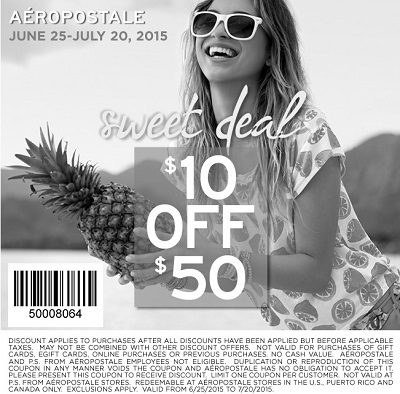 Coupon for: Sweet deal from Aéropostale