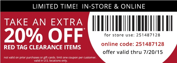 Coupon for: Payless ShoeSource, Extra sale on red tag items