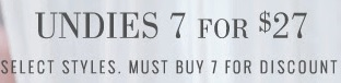 Coupon for: aerie, Undies for special price