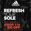 Coupon for: Refresh your sole at adidas Outlet Stores
