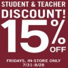 Coupon for: Enjoy Student & Teacher discount at Forever 21