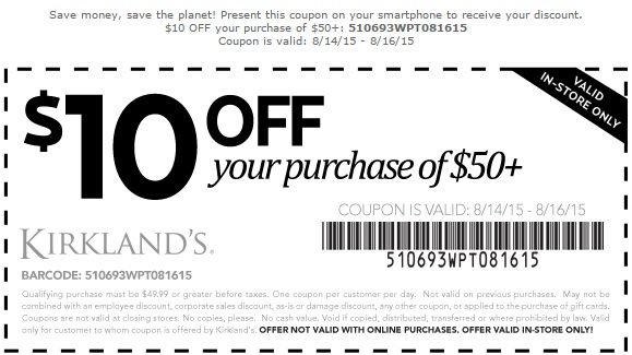 Coupon for: Save big on some of your favorites at Kirkland's