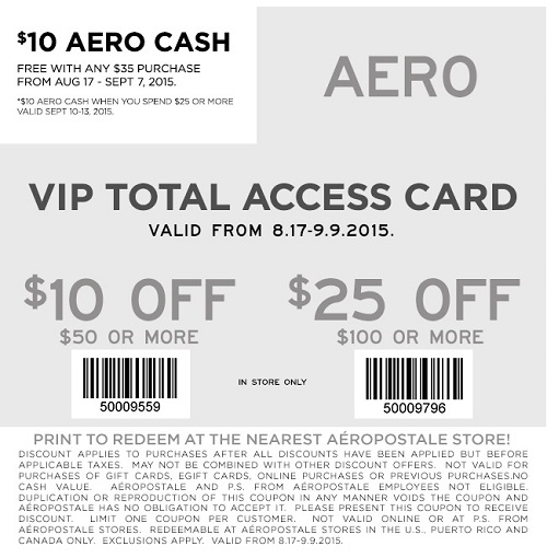 Coupon for: Save with coupon at Aéropostale