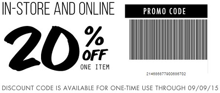 Coupon for: Save 20% at Tilly's stores