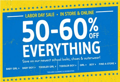 Coupon for: Labor Day Sale 2015 just started at OshKosh B'gosh