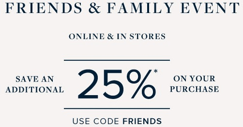 Coupon for: Friends & Family Event started at Brooks Brothers