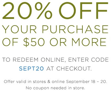 Coupon for: End of Summer sale at Crabtree & Evelyn