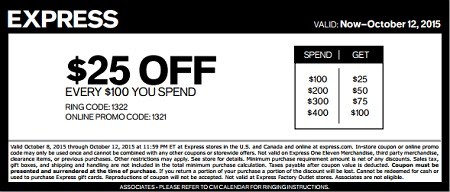 Coupon for: All outerwear, sweaters & jeans on sale at Express