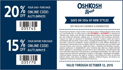 Coupon for: OshKosh B'gosh, Last day - land these deals now