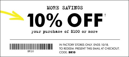 Coupon for: The Fall Clearance Event at Banana Republic Factory Store