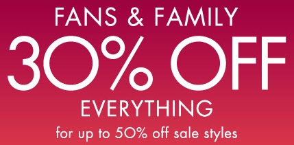Coupon for: Fans & Family Event at Nine West stores