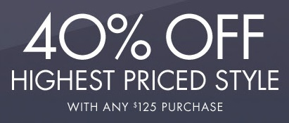 Coupon for: Get discount on highest priced item at Nine West
