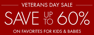 Coupon for: Save big this Veterans Day at Pottery Barn Kids