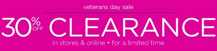 Coupon for: Veteran's Day Sale 2015 at Motherhood Maternity