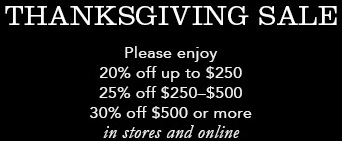 Coupon for: Thanksgiving Sale 2015 from Coach