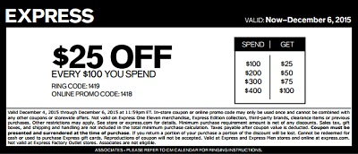 Coupon for: Last hours to save at Express