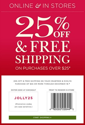 Coupon for: Another printable coupon from Crabtree & Evelyn