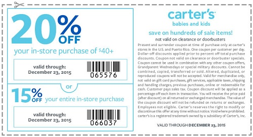 Coupon for: 2 days left to get great deal from carter's