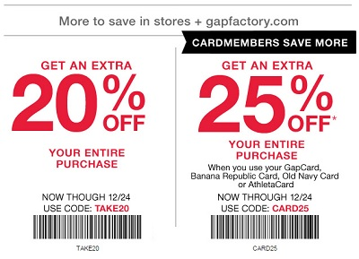 Coupon for: Save with printable coupon at Gap Factory