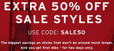 Coupon for: Enjoy extra savings from Levi's