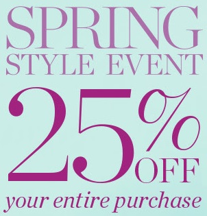Coupon for: Spring style event at Talbots retail stores