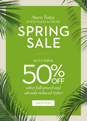 Coupon for: Spring sale starts today at Chico's stores