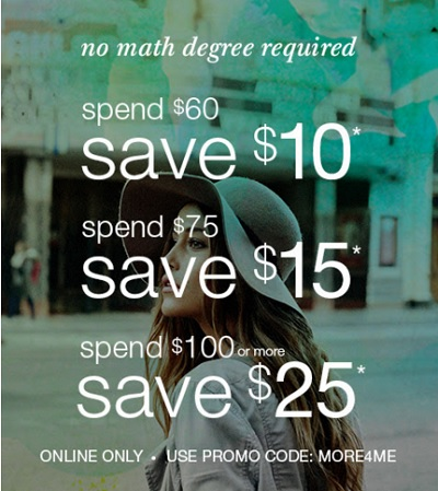 Coupon for: Buy more, save more at maurices