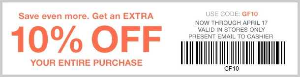 Coupon for: Printable coupon from Gap Factory