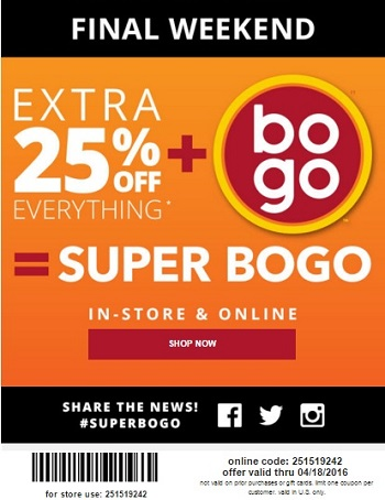 Coupon for: BOGO Sale offer at Payless ShoeSource