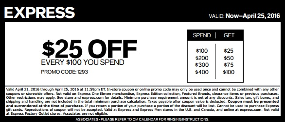 Coupon for: 2 days to save with coupon at U.S. Express stores